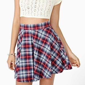 Nasty Gal Plaid Skater School Girl Skirt